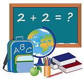 Objects for education in school.