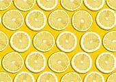 seamless background of fresh lemon slices