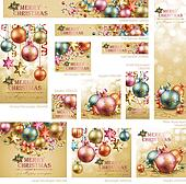 Collection of Christmas vintage banners