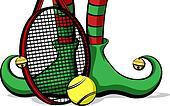 Tennis Christmas Elf Feet