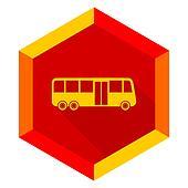 bus flat design modern icon