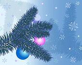 Christmas greeting card with christ