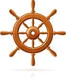 ship wheel marine wooden vintage