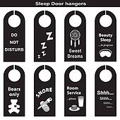 Door Hangers for Sleep Time