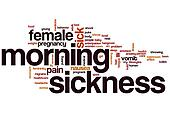 Morning sickness word cloud