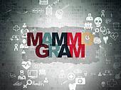 Health concept: Mammogram on Digital Paper background