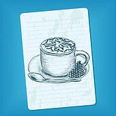 doodle cup of coffee