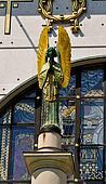 praying ornamental art nouveau angel statue