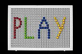 Text Play on child mosaic