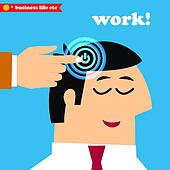 Wake up and work, office weekdays