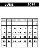 June calendar 2014