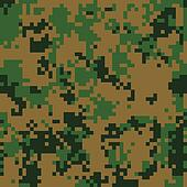 Forest digital camouflage