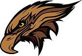 Mascot Head of an Falcon or Hawk Ve
