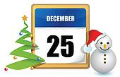 december 25 calendar
