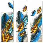 Abstract backgrounds with feathers
