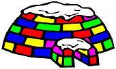 multicolored igloo