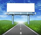 Blank road billboard