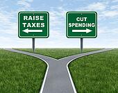 Raising taxes or cutting spending