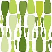Vector background with bottles. Good for restaurant or bar menu design