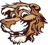 Smiling Cartoon Cougar Mountain Lio
