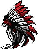 American Native Indian Feather Head