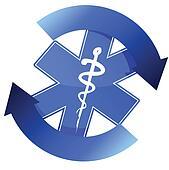 24/7 blue medical symbol cycle