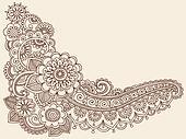 Henna Mehndi Doodles Vector