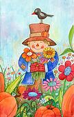 Scarecrow With Flowers