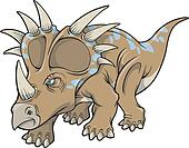 Triceratops Dinosaur Vector Art