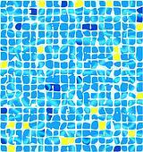 Blue ceramic tiles with sunlight riple