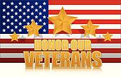 us honor our veterans gold