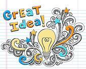 Light Bulb Great Idea Sketchy