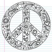 Sketchy Notebook Doodles Peace Sign