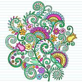 Psychedelic Doodles Flowers & Vines