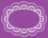 Lace Doily Frame Border Vector