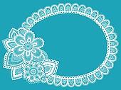 Lace Doily Henna Flower Frame