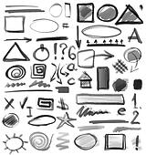 Doodle ink, hand drawn symbol