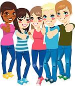 Teenagers Clip Art - Royalty Free - GoGraph