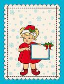 little girl in suit Snow Maiden
