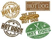 Hot dog stamps