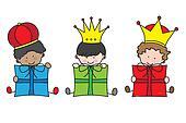 Christmas. Three Kings