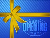 grand opening gift ribbon background