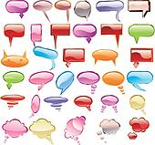 Collection of colorful speech bubbl