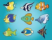 funny fish cartoon