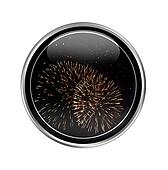 Button with firework