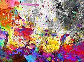 colorful paint splash grunge