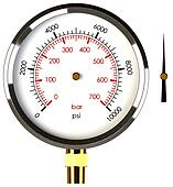 Pressure Gauge with Needle