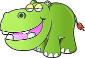 Lazy hippopotamus Vector art