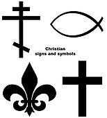 Set of Christian signs
