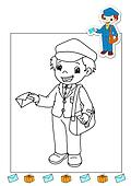 coloring book of the works - mail c